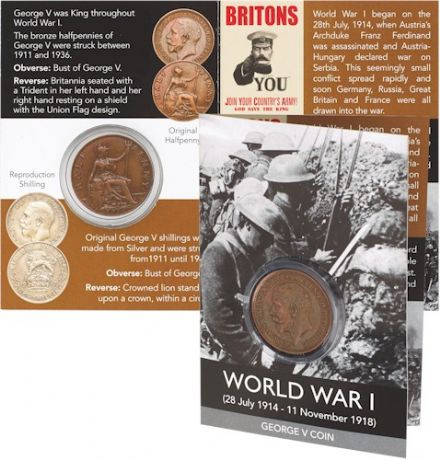 George V Halfpenny Coin Pack